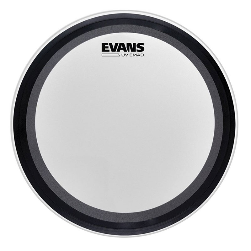 """Evans 22"""" UV EMAD Coated Bass Drum Head"""
