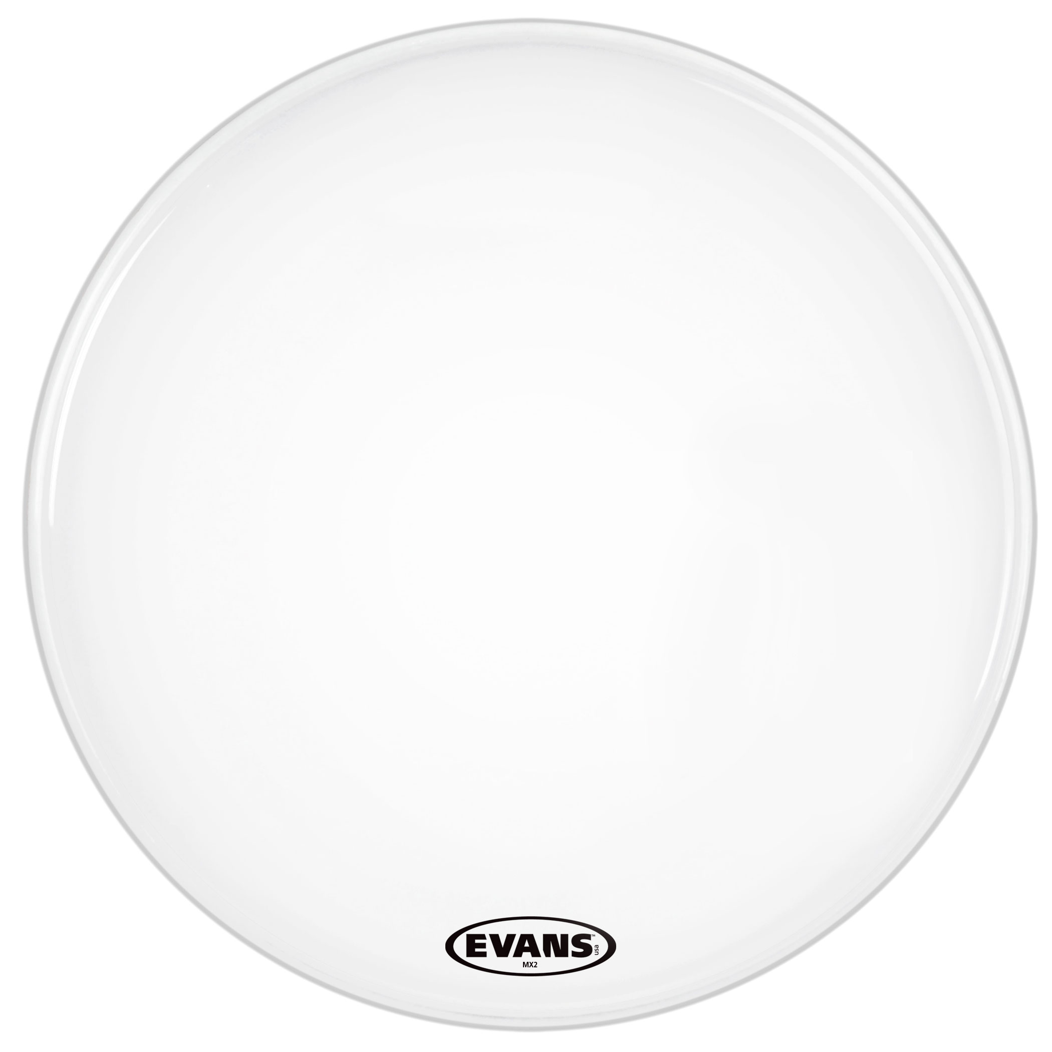 """Evans 22"""" MX2 White Marching Bass Head"""