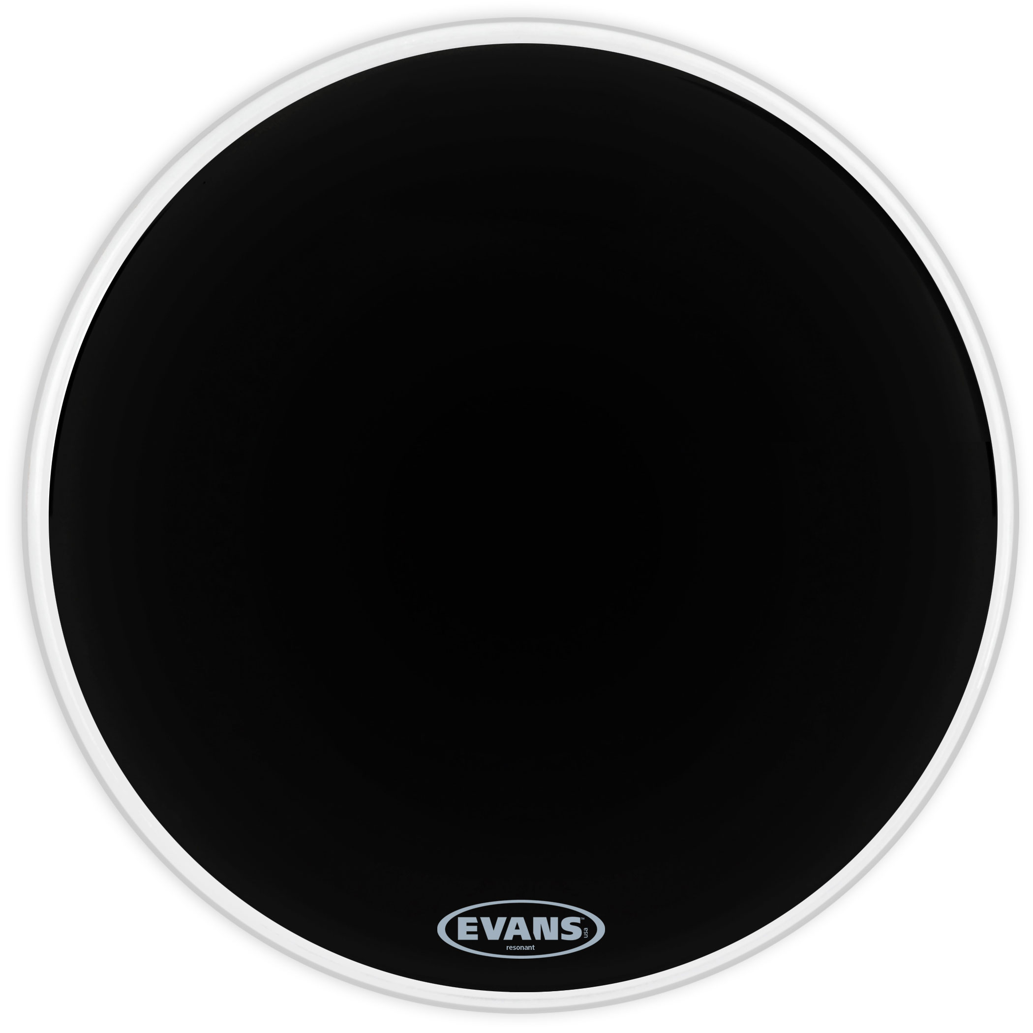 "Evans 22"" Resonant Black Bass Head"