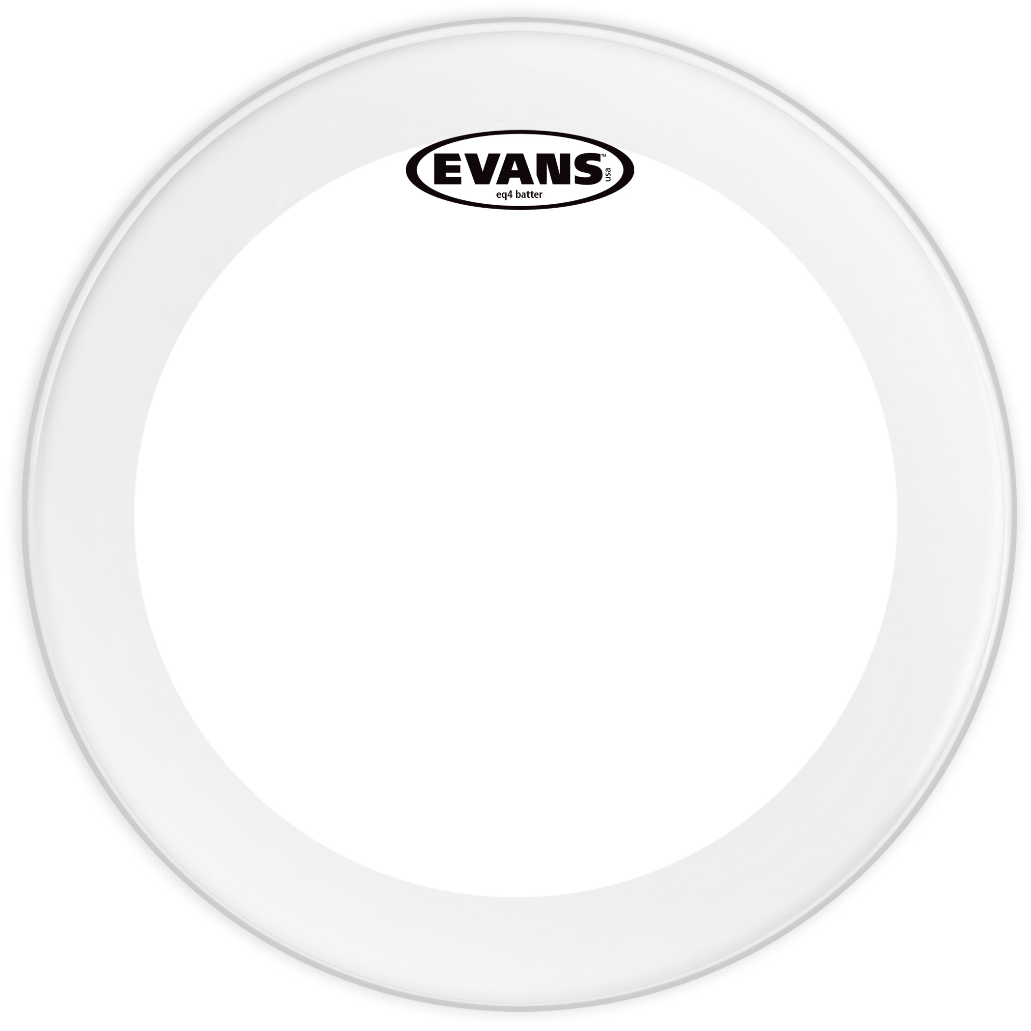 "Evans 24"" EQ4 Frosted Bass Head"
