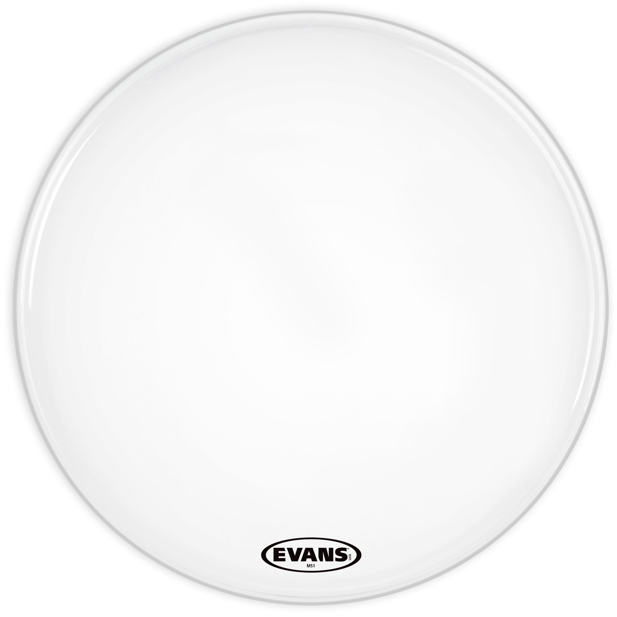 """Evans 24"""" MS1 White Marching Bass Head"""