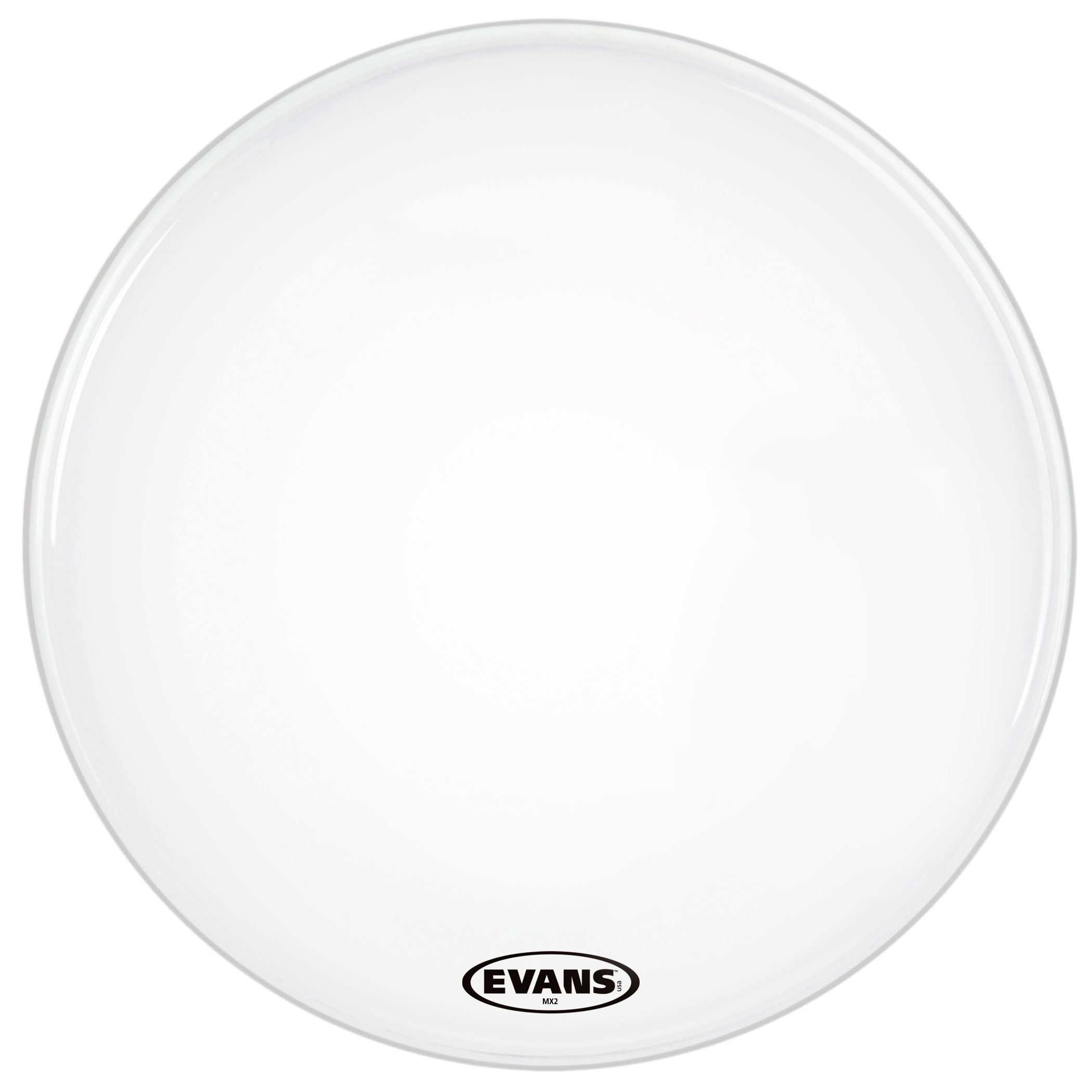 """Evans 26"""" MX2 White Marching Bass Head"""