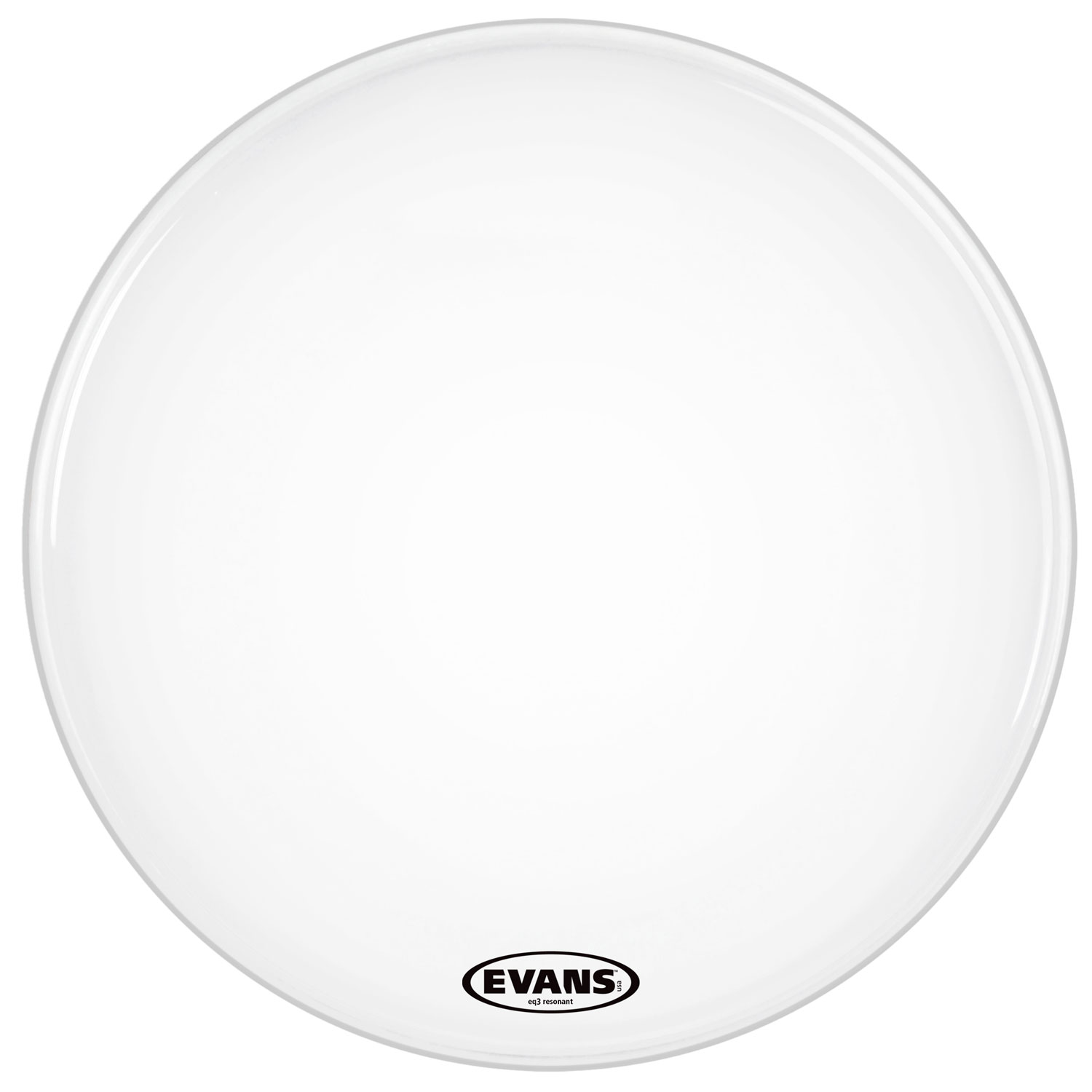 "Evans 26"" EQ3 Resonant Smooth White Bass Head without Port"
