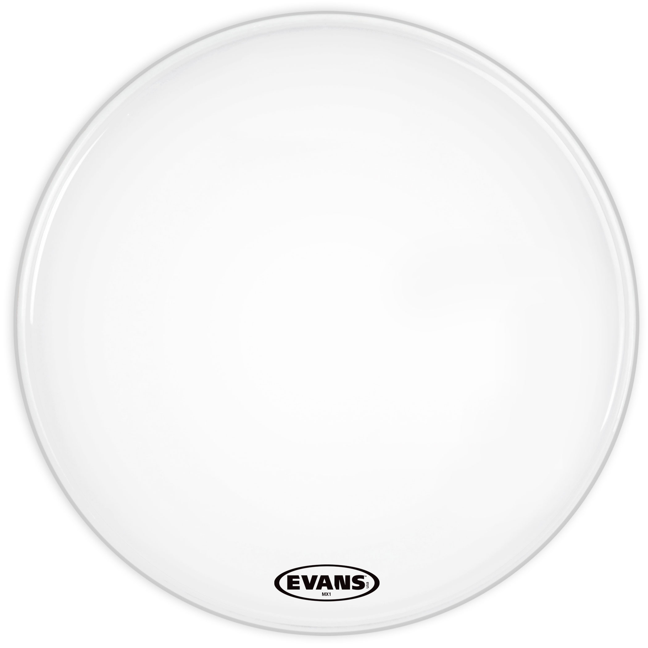 """Evans 30"""" MX1 White Marching Bass Head"""