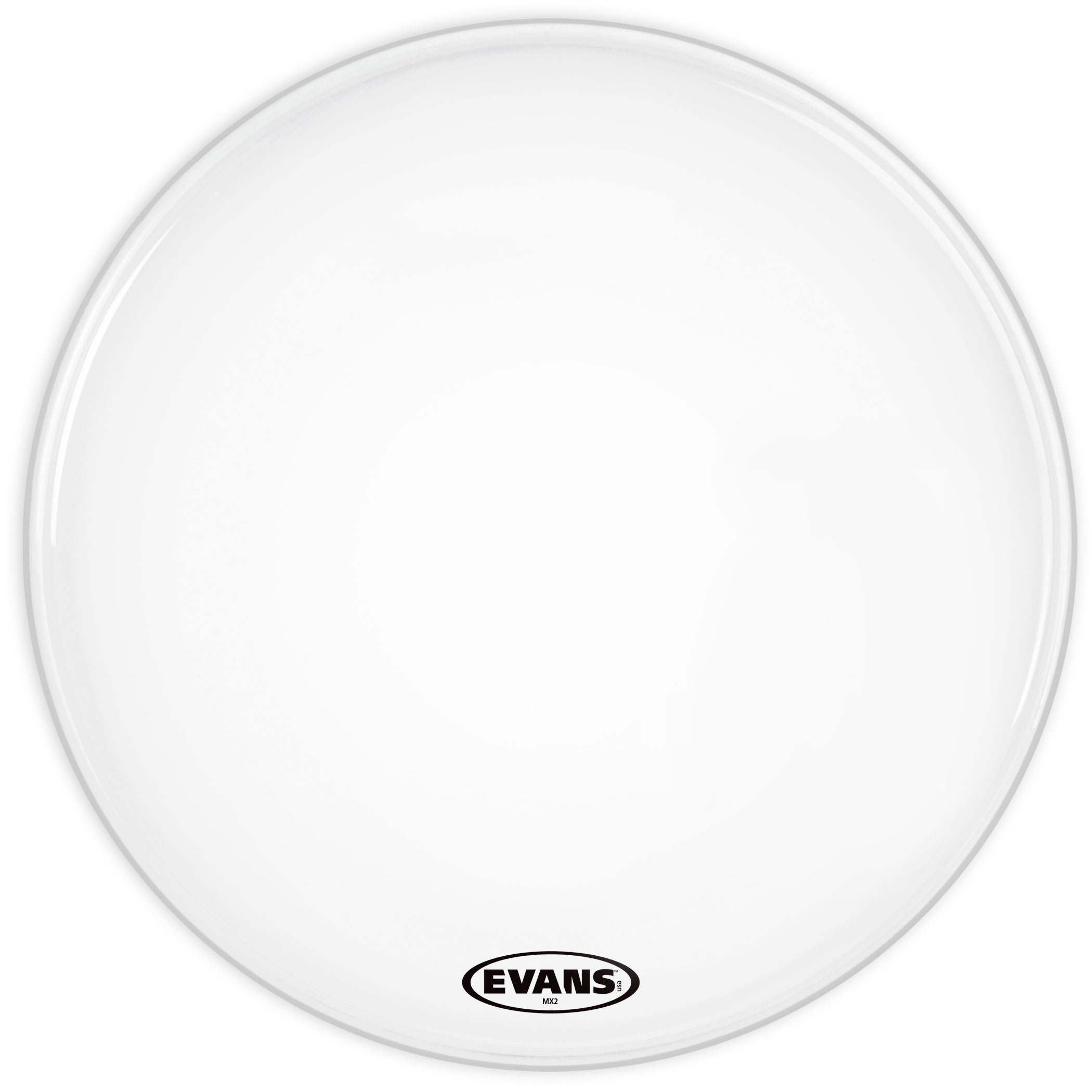"""Evans 30"""" MX2 White Marching Bass Head"""