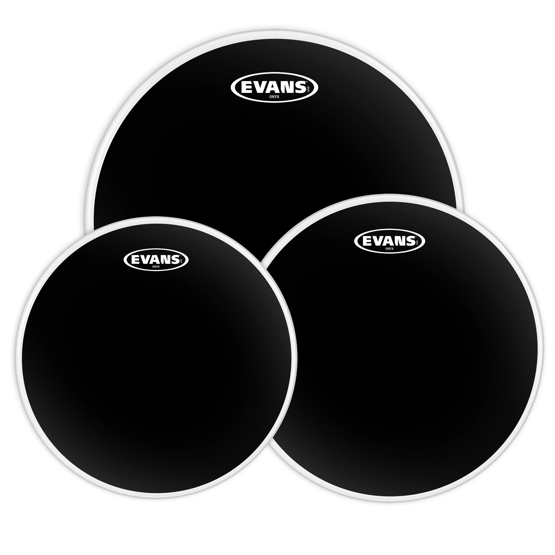 "Evans 12""/13""/16"" Onyx Standard Tom Head Pack"
