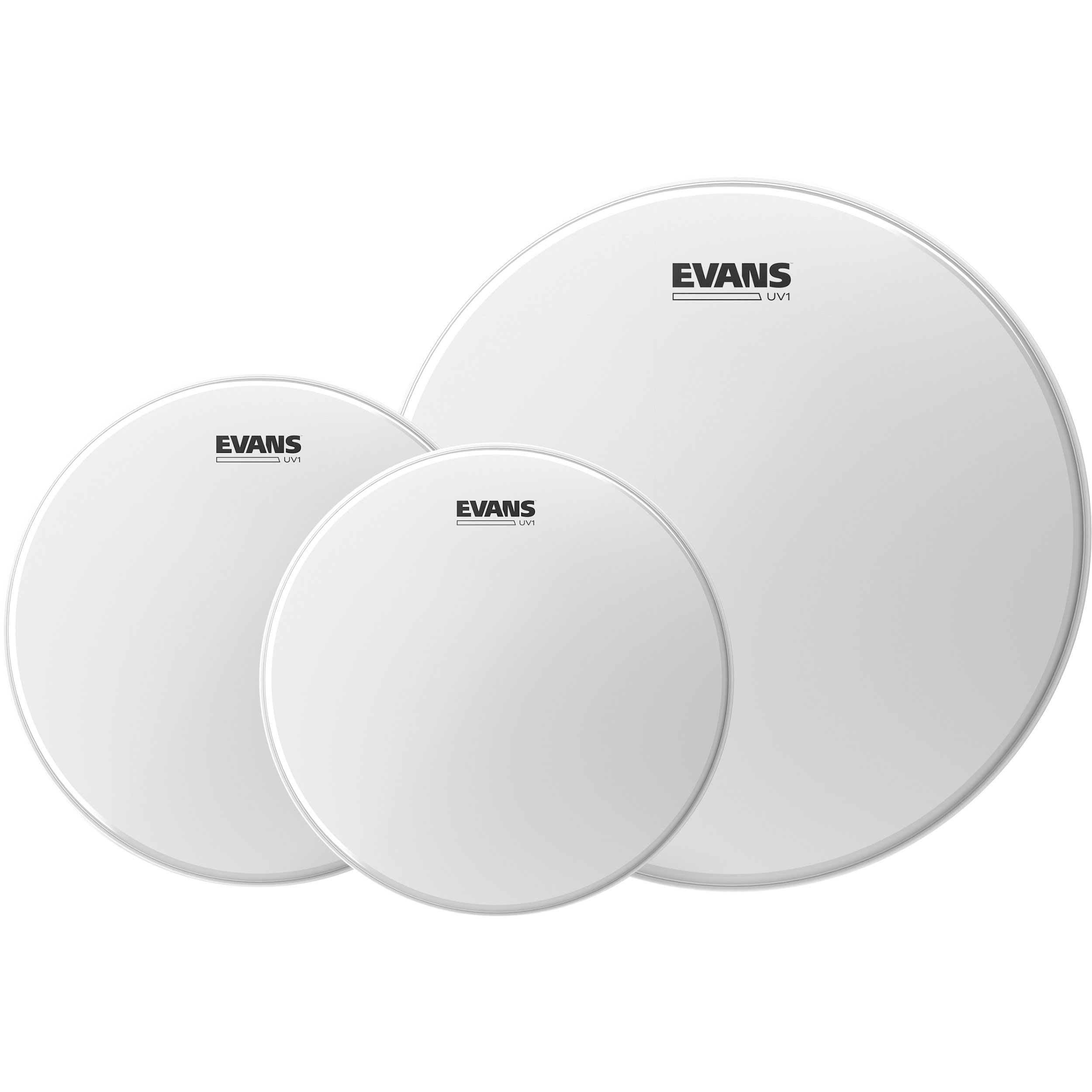 "Evans 12""/13""/16"" UV1 Coated Standard Tom Head Pack"