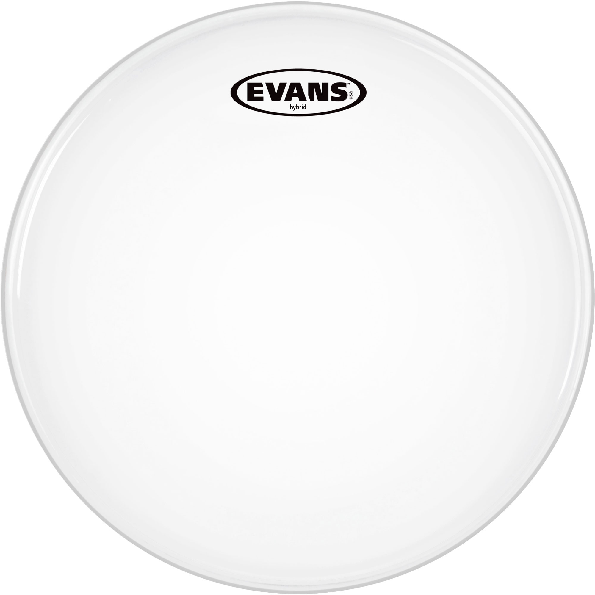 "Evans 14"" Hybrid White Marching Snare Top Head"