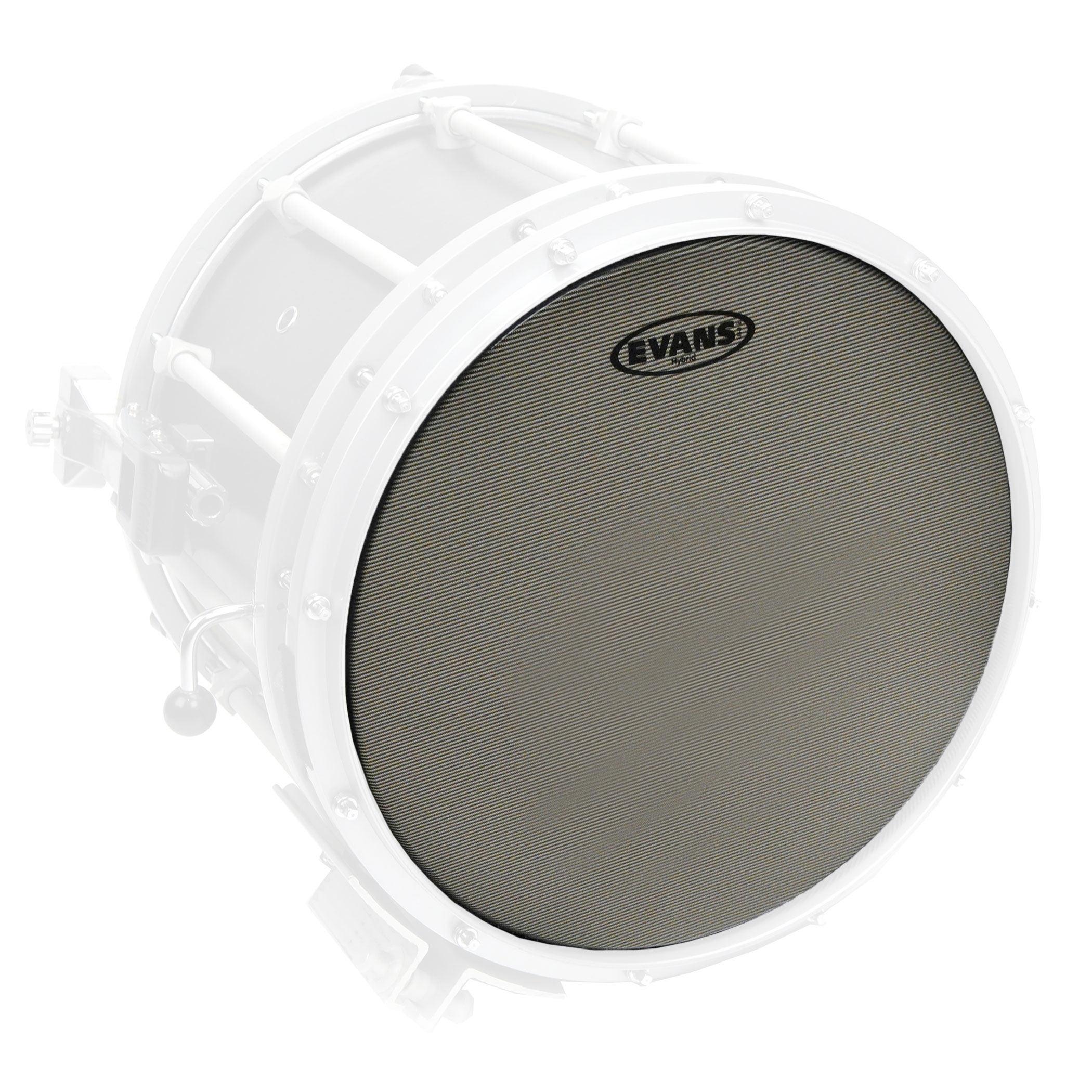 "Evans 13"" Hybrid Grey Marching Snare Top Head"