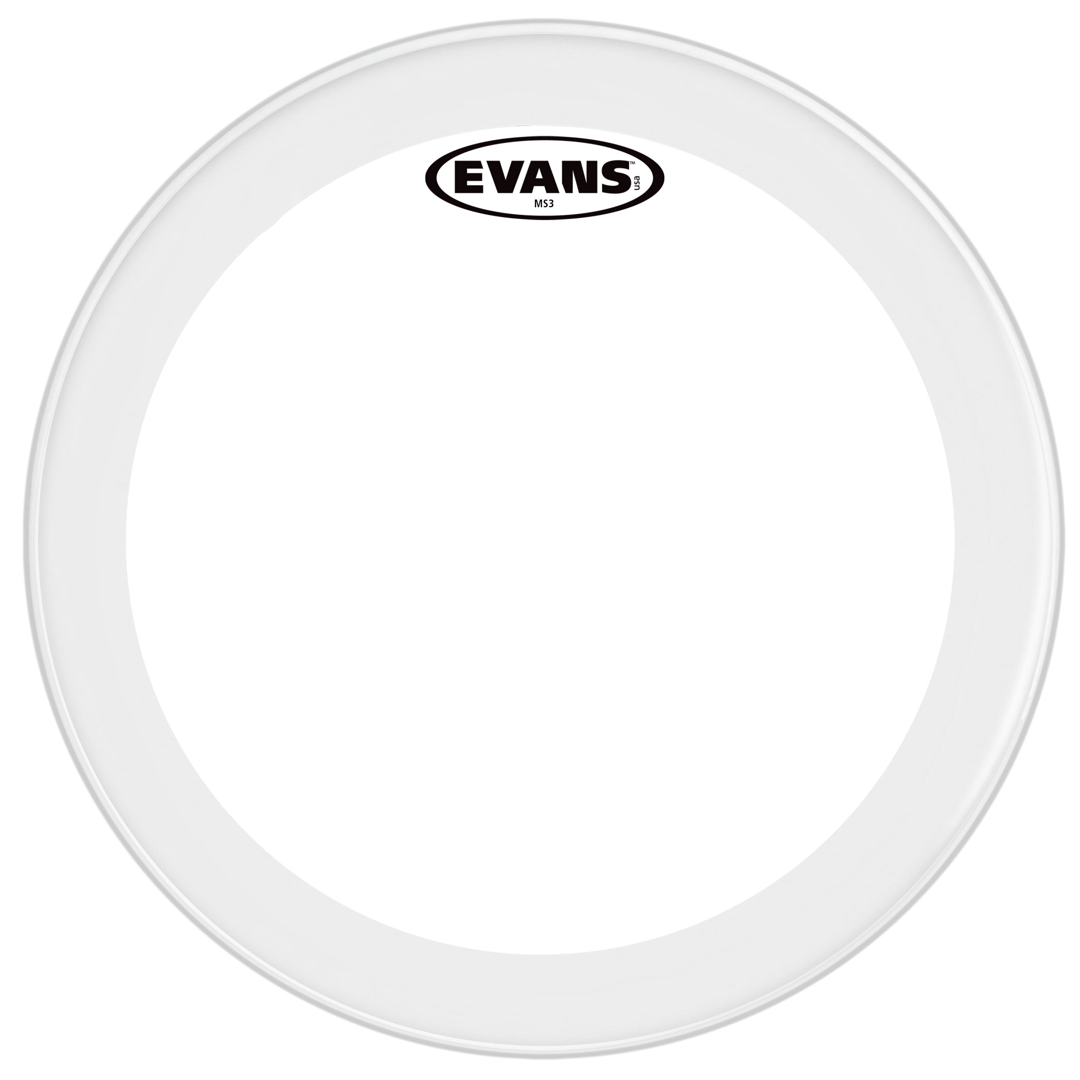 "Evans 14"" MS3 Polyester Marching Snare Bottom Head"