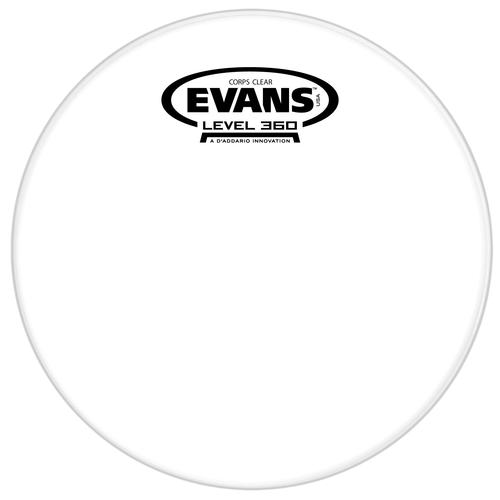 """Evans 12"""" Corps Clear Marching Tenor Head"""