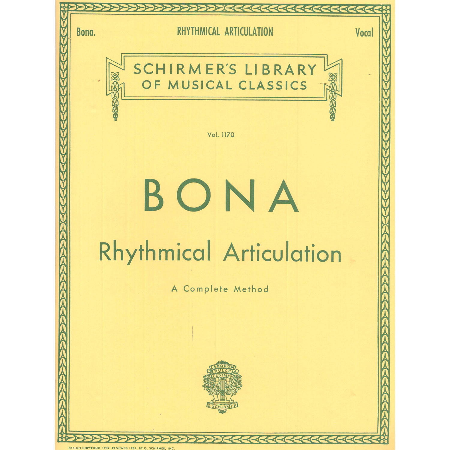 Rhythmical Articulation a Complete Method by Pasquale Bona