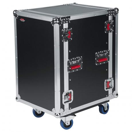 Gator Cases G-TOUR Wooden 16U Rack ATA Flight Case with Casters