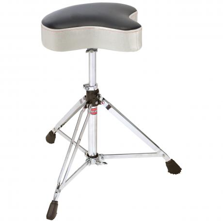 Gibraltar 6000 Series Motorcycle Seat Throne in Silver White