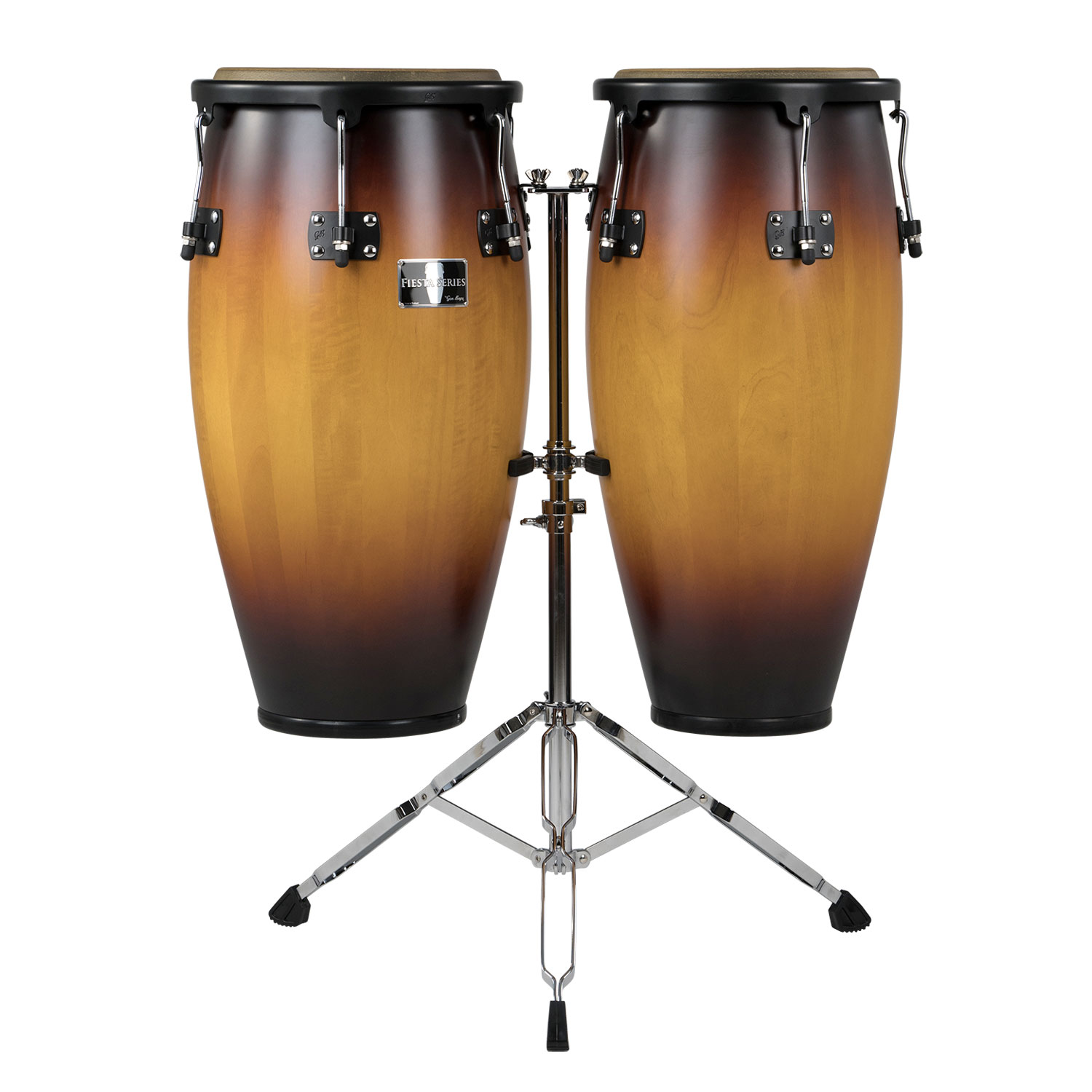"""Gon Bops 11"""" & 12"""" Fiesta Series Conga Set in Sunburst with Stand"""