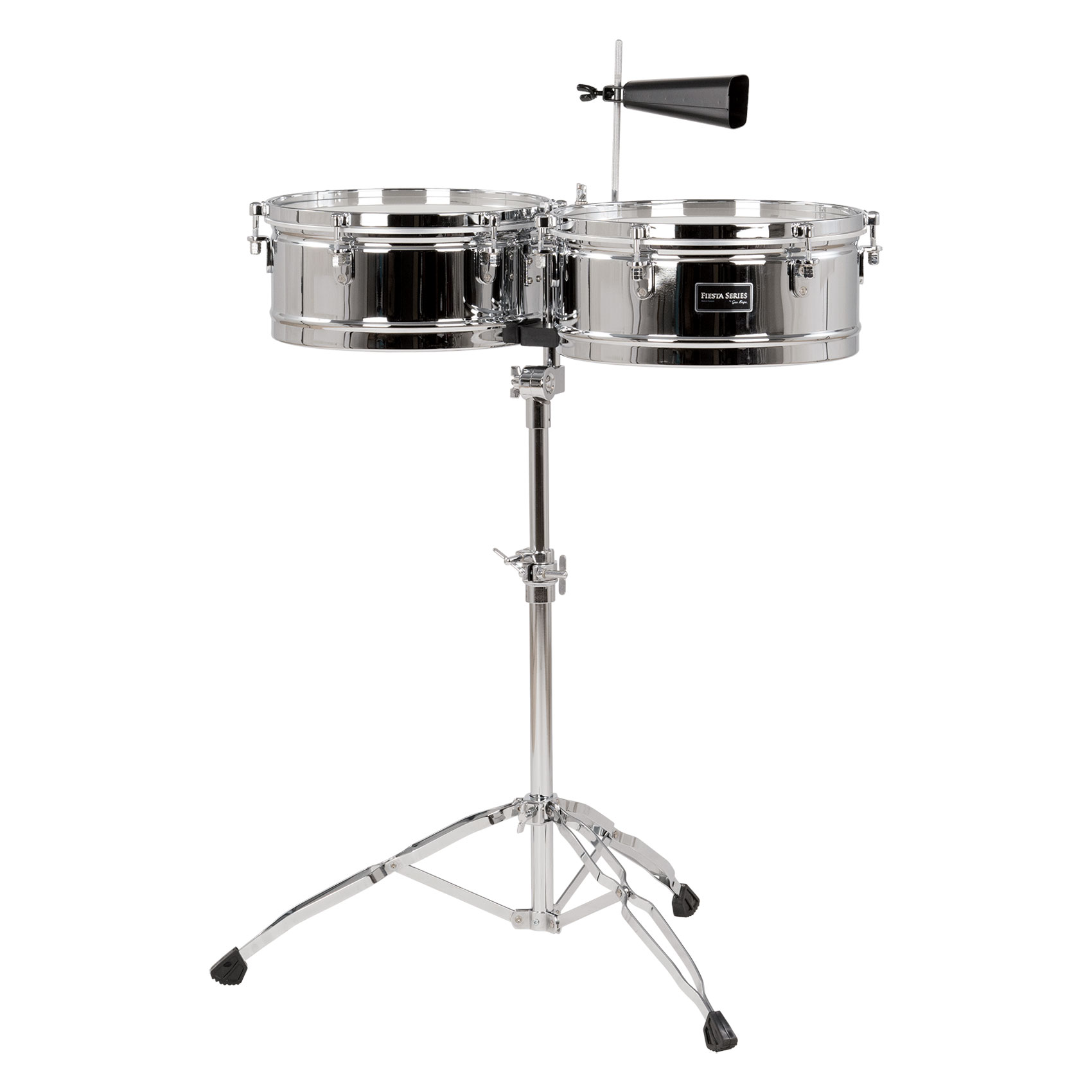 "Gon Bops 14/15"" Fiesta Timbales in Chrome with Stand"