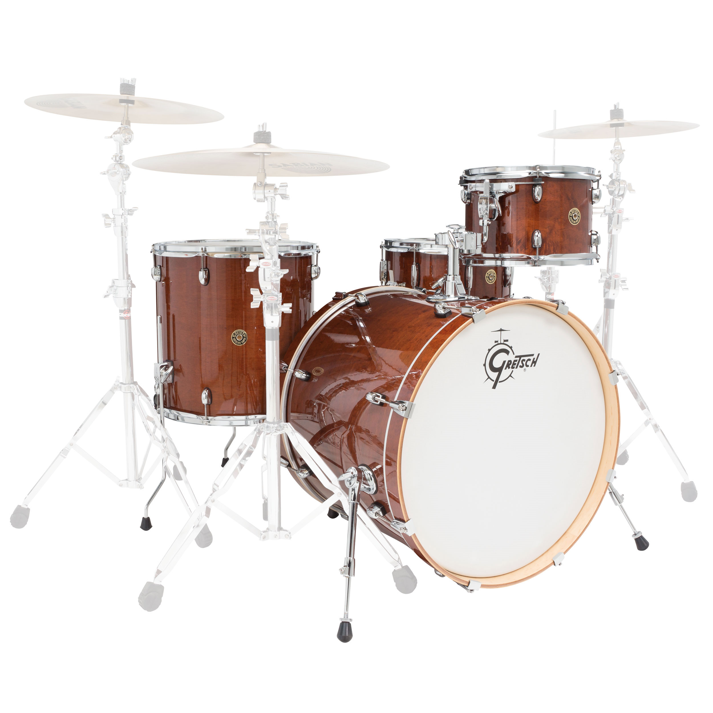 "Gretsch Catalina Maple 4-Piece Rock Drum Set Shell Pack (22"" Bass, 12/16"" Toms, 14"" Snare)"