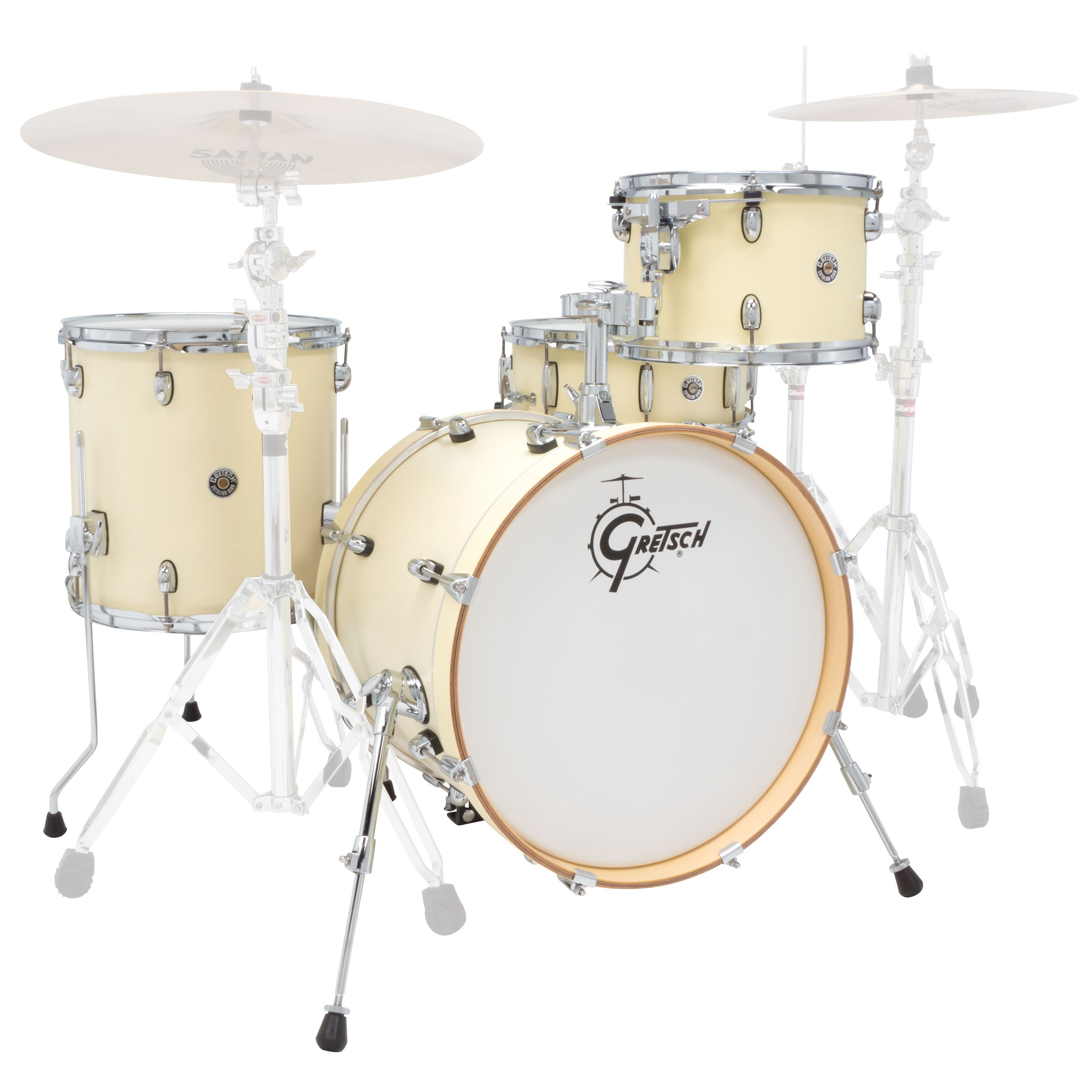 "Gretsch Catalina Club Jazz 4-Piece Drum Set Shell Pack (18"" Bass, 12/14"" Toms, 14"" Snare) with Satin Finish"