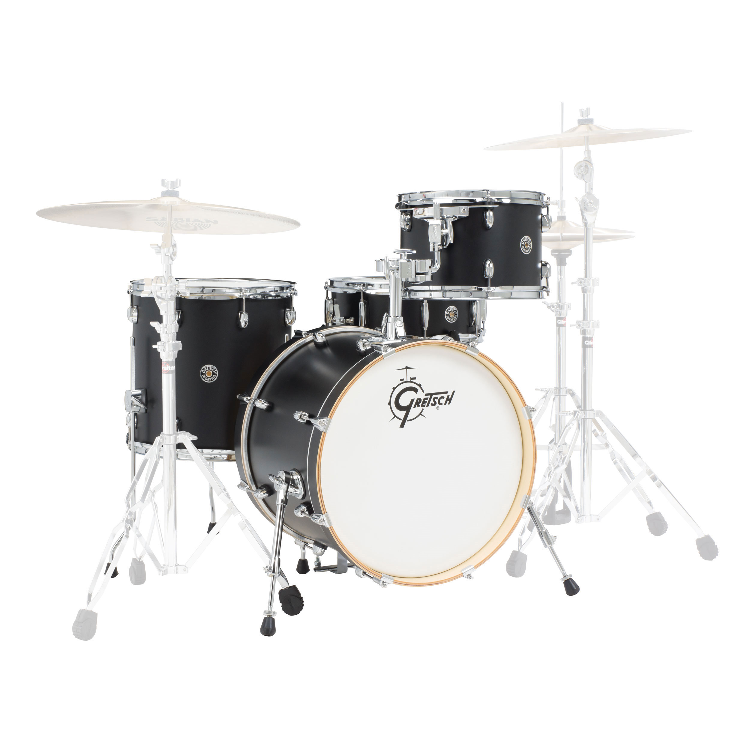 "Gretsch Catalina Club Classic 4-Piece Drum Set Shell Pack (20"" Bass, 12/14"" Toms, 14"" Snare) with Satin Finish"