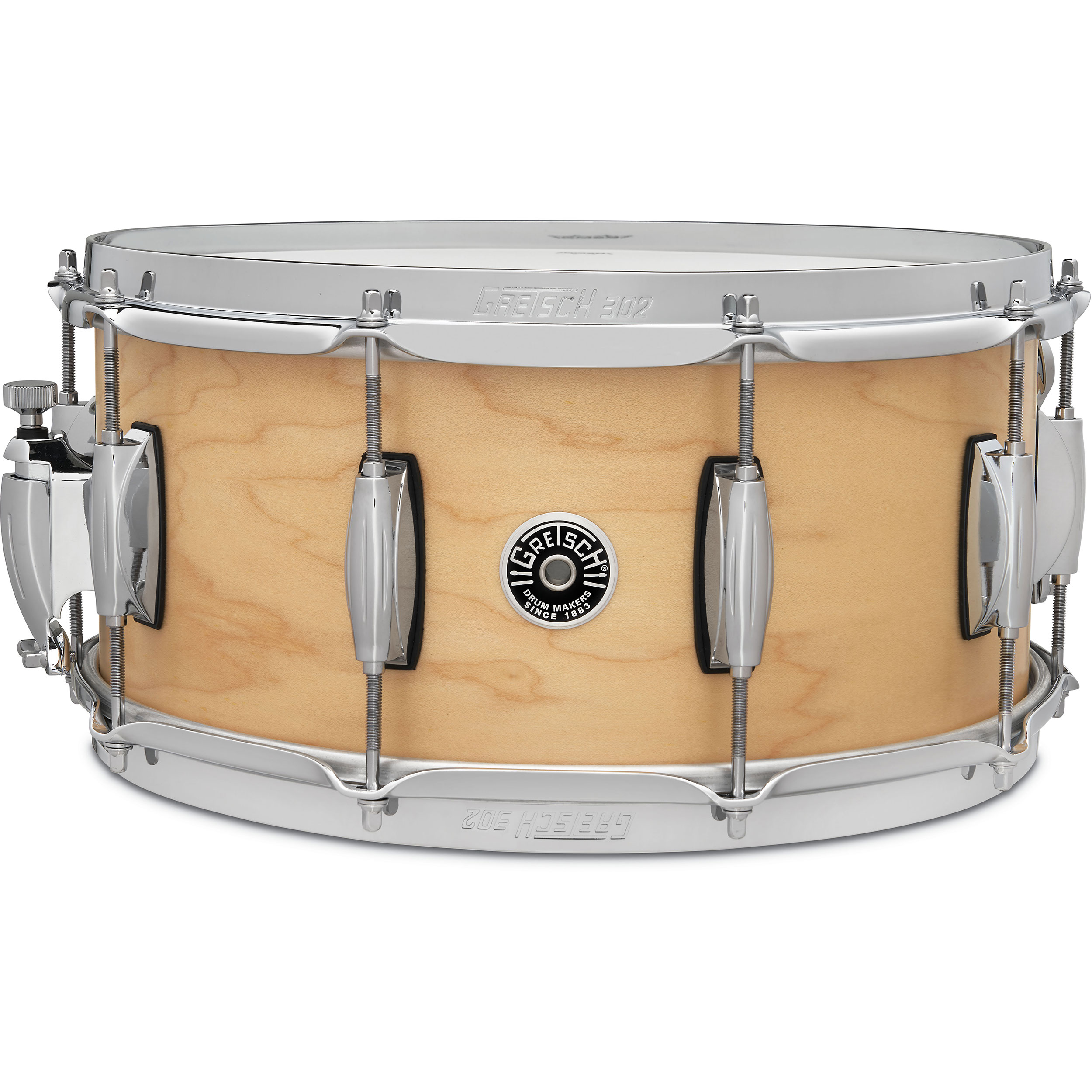 "Gretsch 6.5"" x 14"" Brooklyn Straight Satin Snare Drum"