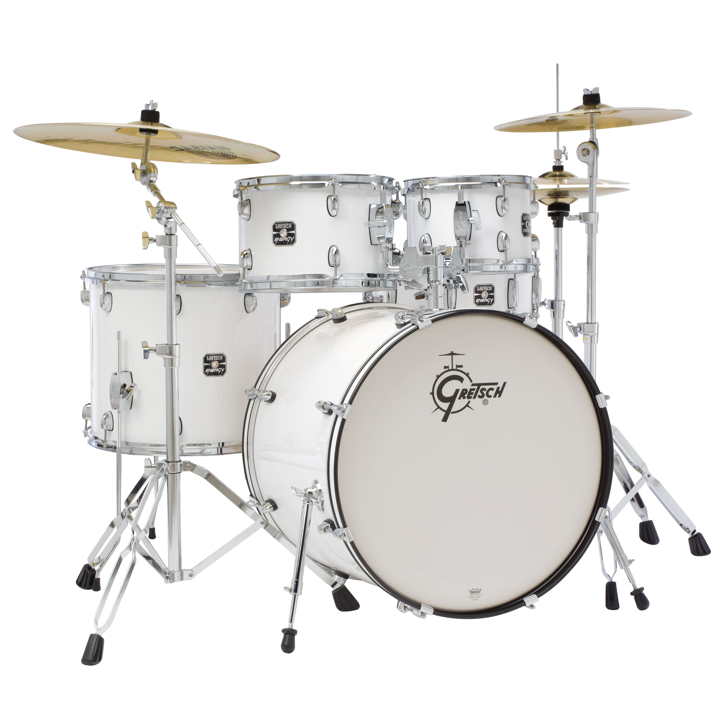 "Gretsch Energy Series Drum Set with Hardware and Sabian SBR Cymbals (22"" Bass, 10/12/16"" Toms, 14"" Snare)"