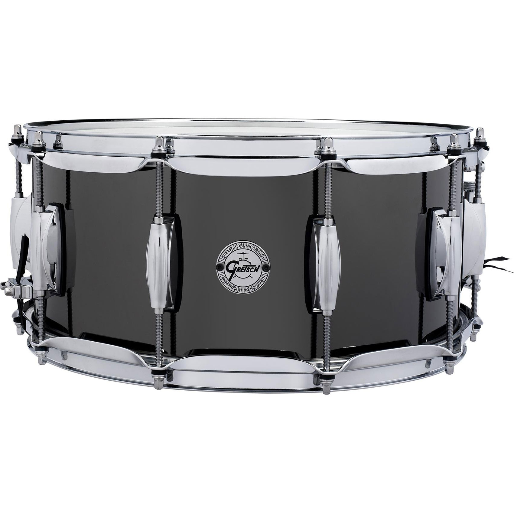 "Gretsch 6.5"" x 14"" Black Nickel over Steel Snare Drum"