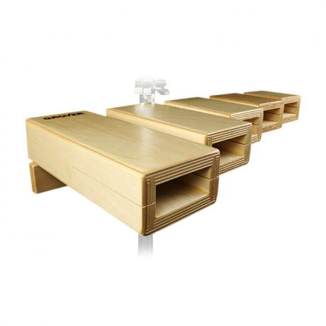 Grover Pro 5-Piece Temple Blocks with Mounting Bar