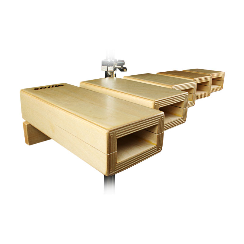 Grover Pro Standard Temple Blocks with Stand
