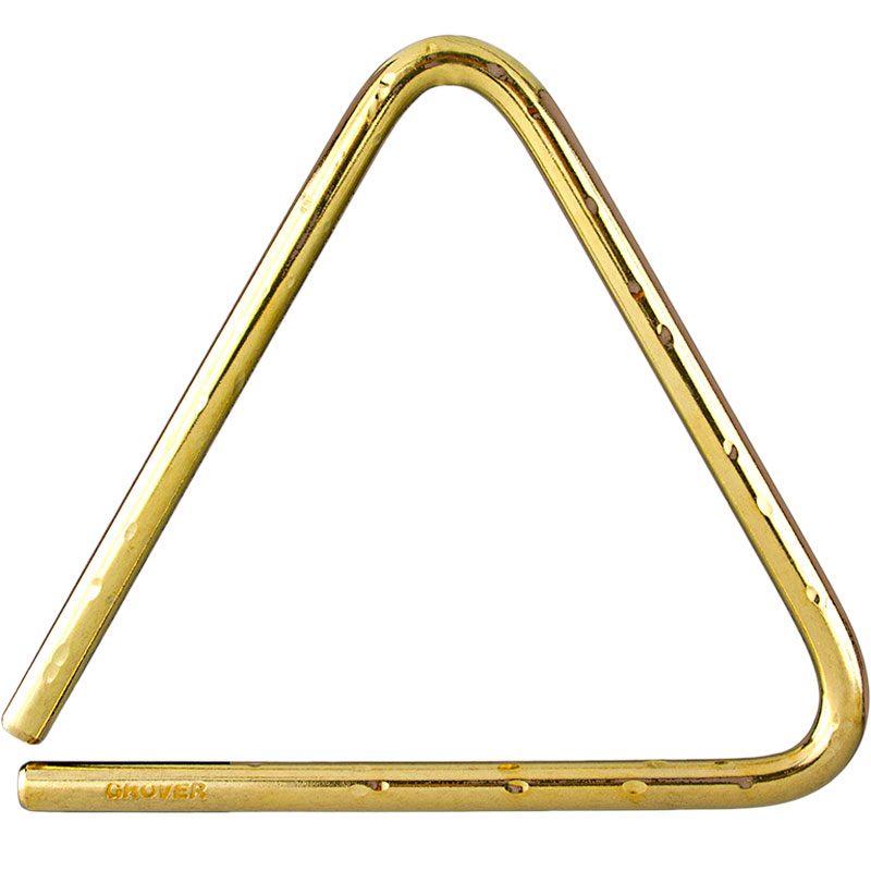 "Grover Pro 9"" Symphonic Bronze Hammered Lite Triangle"