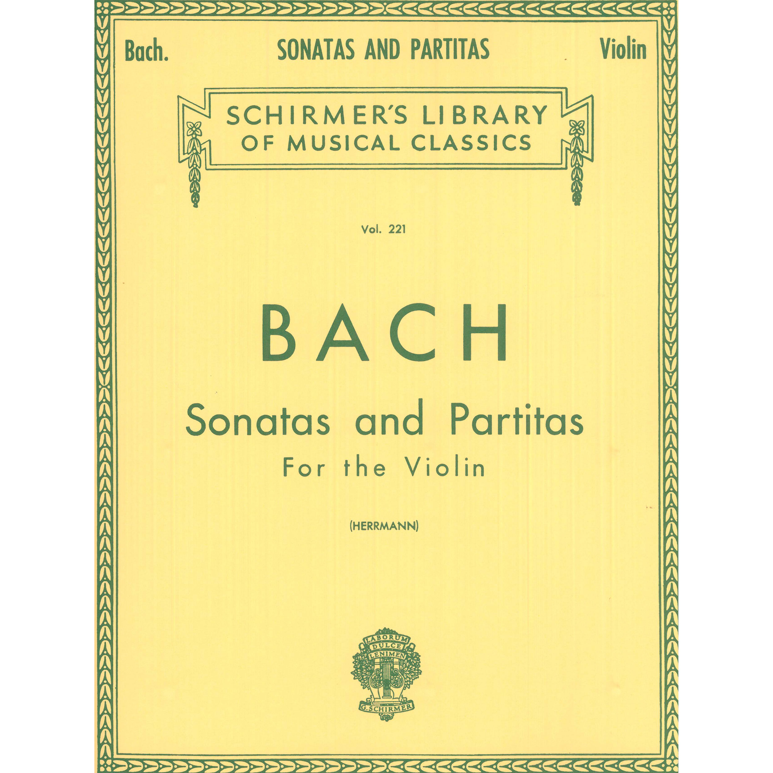 Sonatas and Partitas for Violin by J.S. Bach ed. Herrmann