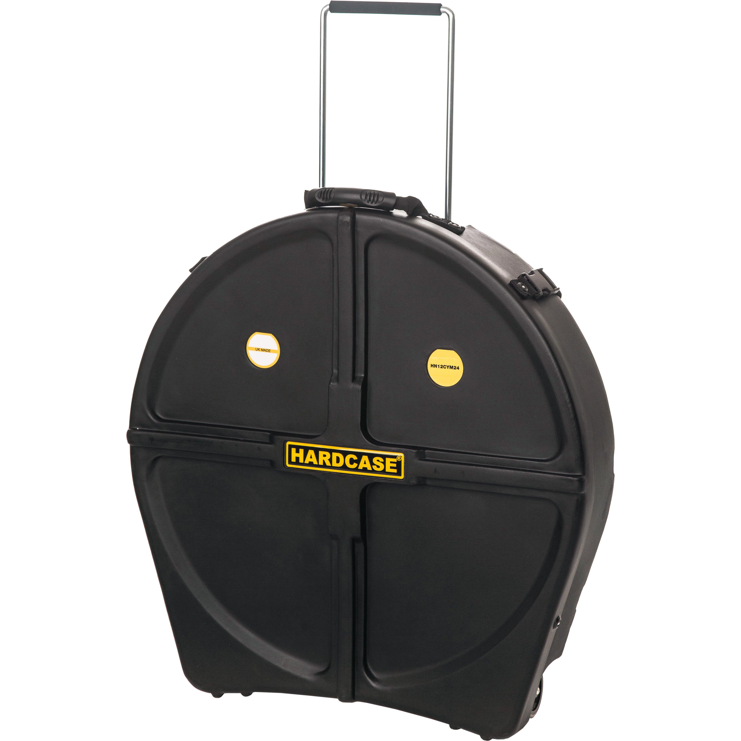 """Hardcase 24"""" Cymbal Case with Retractable Tow Handle & Wheels"""