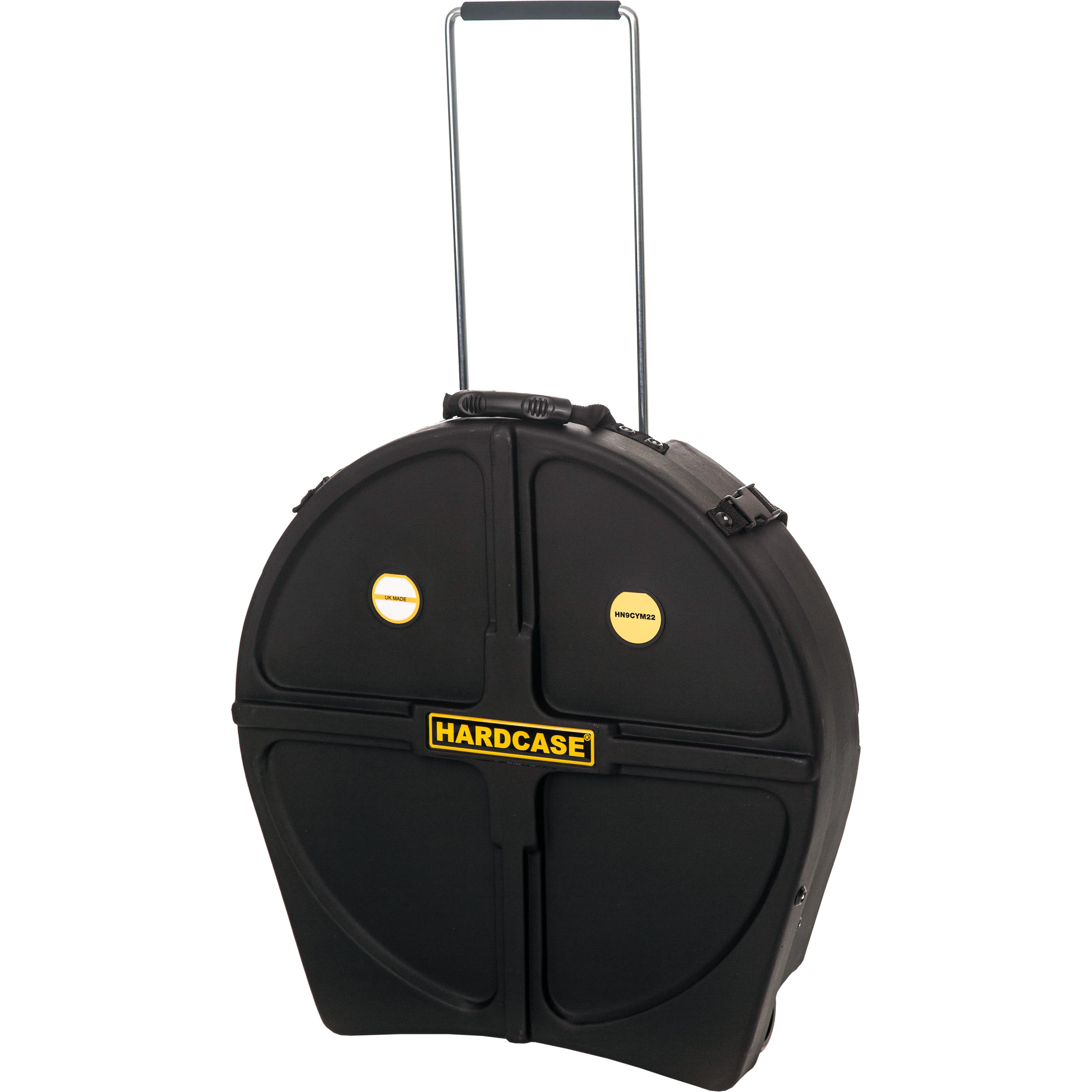 """Hardcase 22"""" Cymbal Case with Retractable Tow Handle & Wheels"""