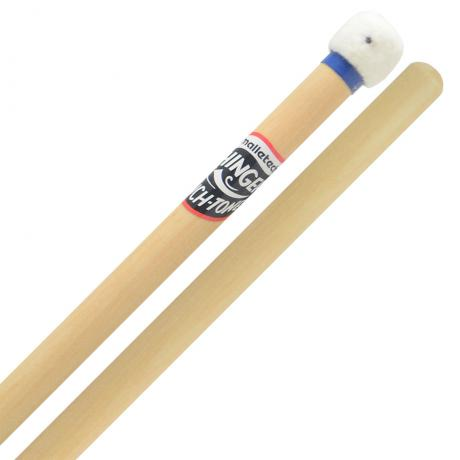 Malletech Fred Hinger Signature Touch-Tone Very Hard Timpani Mallets with Maple Handles