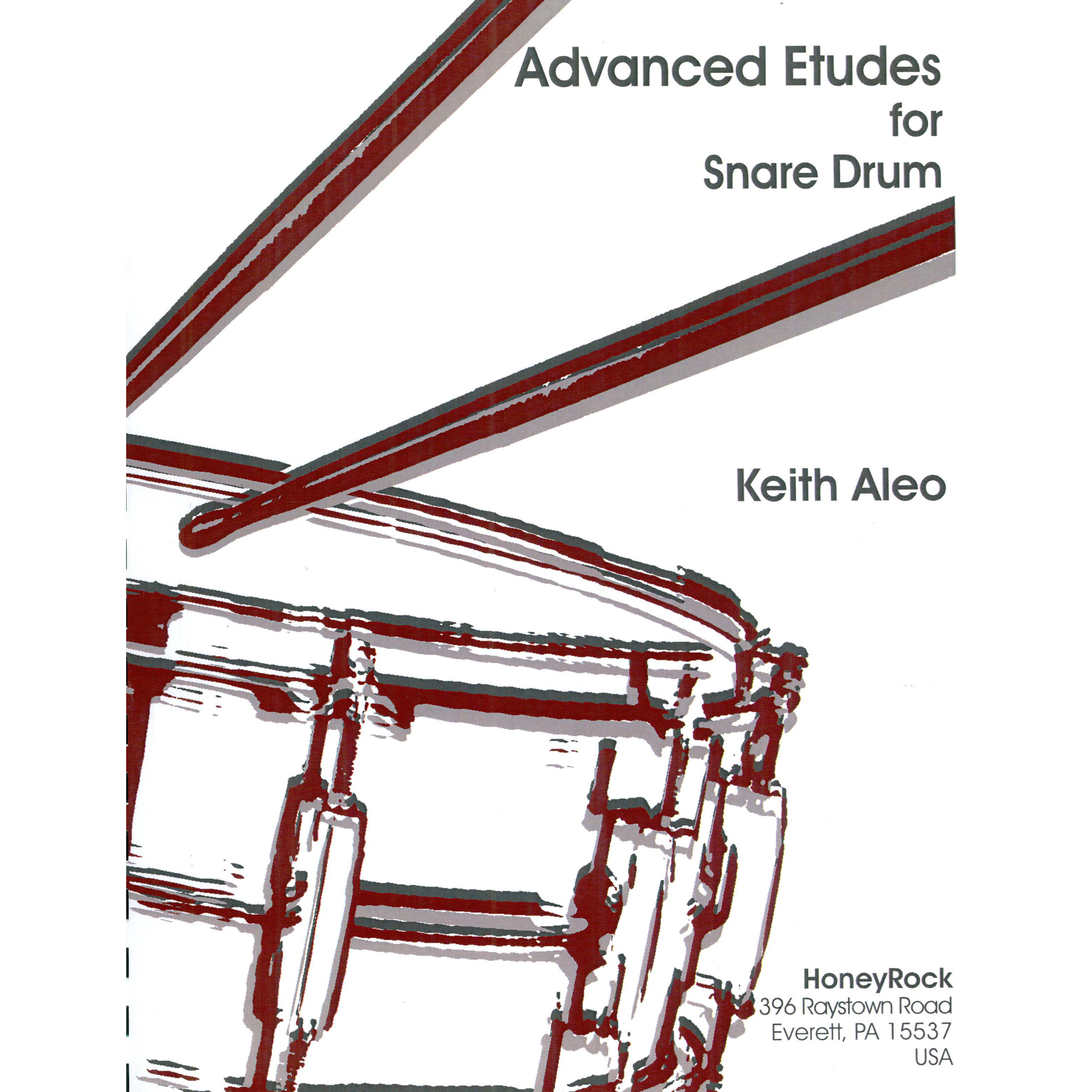 Advanced Etudes for Snare Drum by Keith Aleo