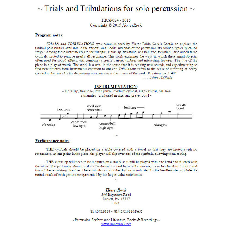 Trials and Tribulations by Adam Vidiksis
