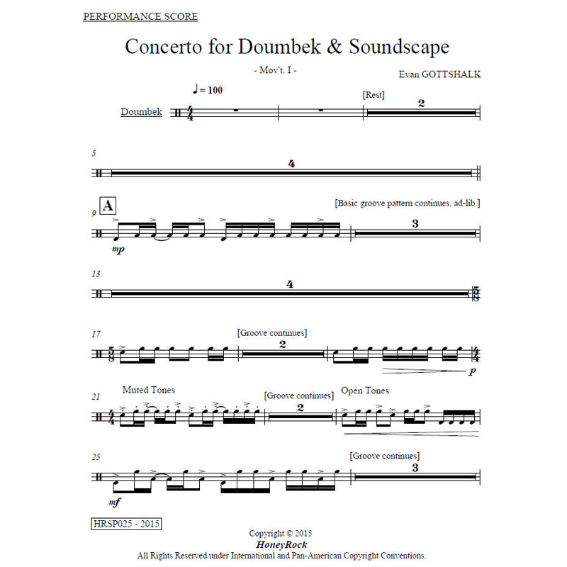 Concerto for Doumbek & Soundscape by Evan Gottshalk