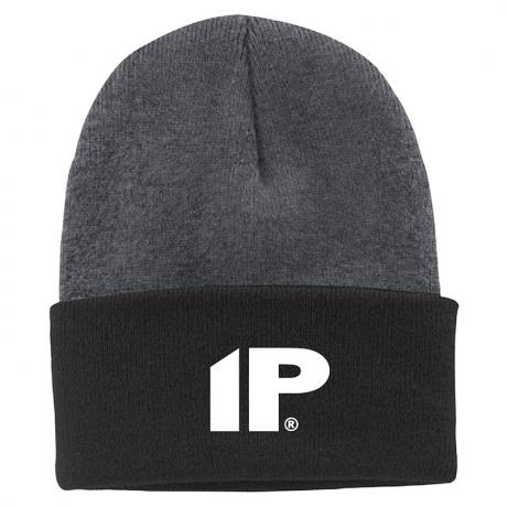 Innovative Percussion Black and Gray Two-Tone Beanie