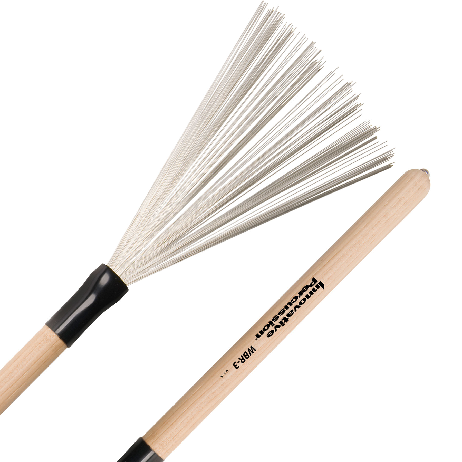 Innovative Percussion Medium Wire Brush with Fixed Wood Handle