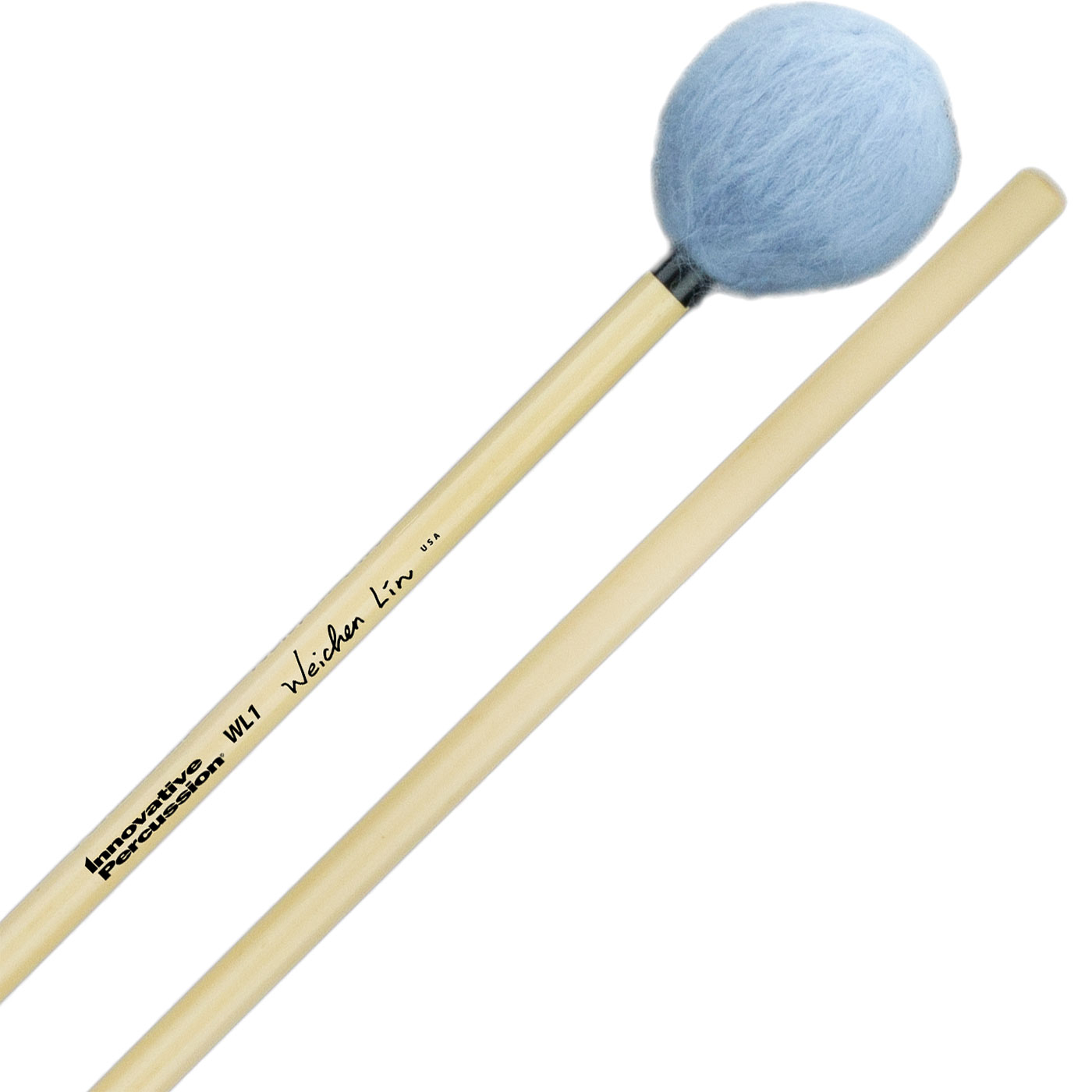 Innovative Percussion Wei-Chen Lin Signature Bass Marimba Mallets with Rattan Handles