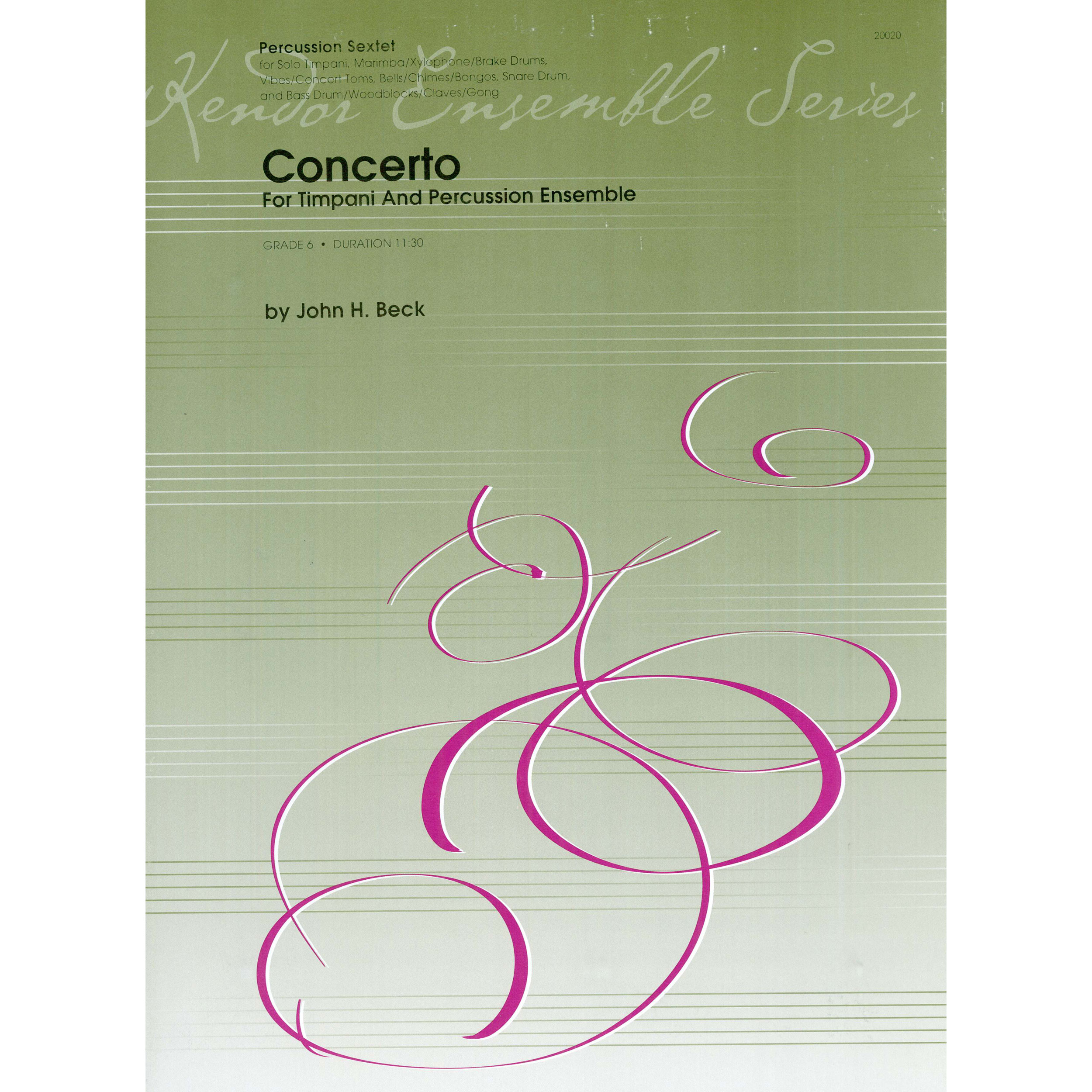 Concerto For Timpani And Percussion Ensemble by John Beck