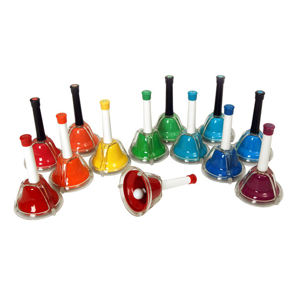 Rhythm Band 13 Note Chromatic Handbell/Deskbell