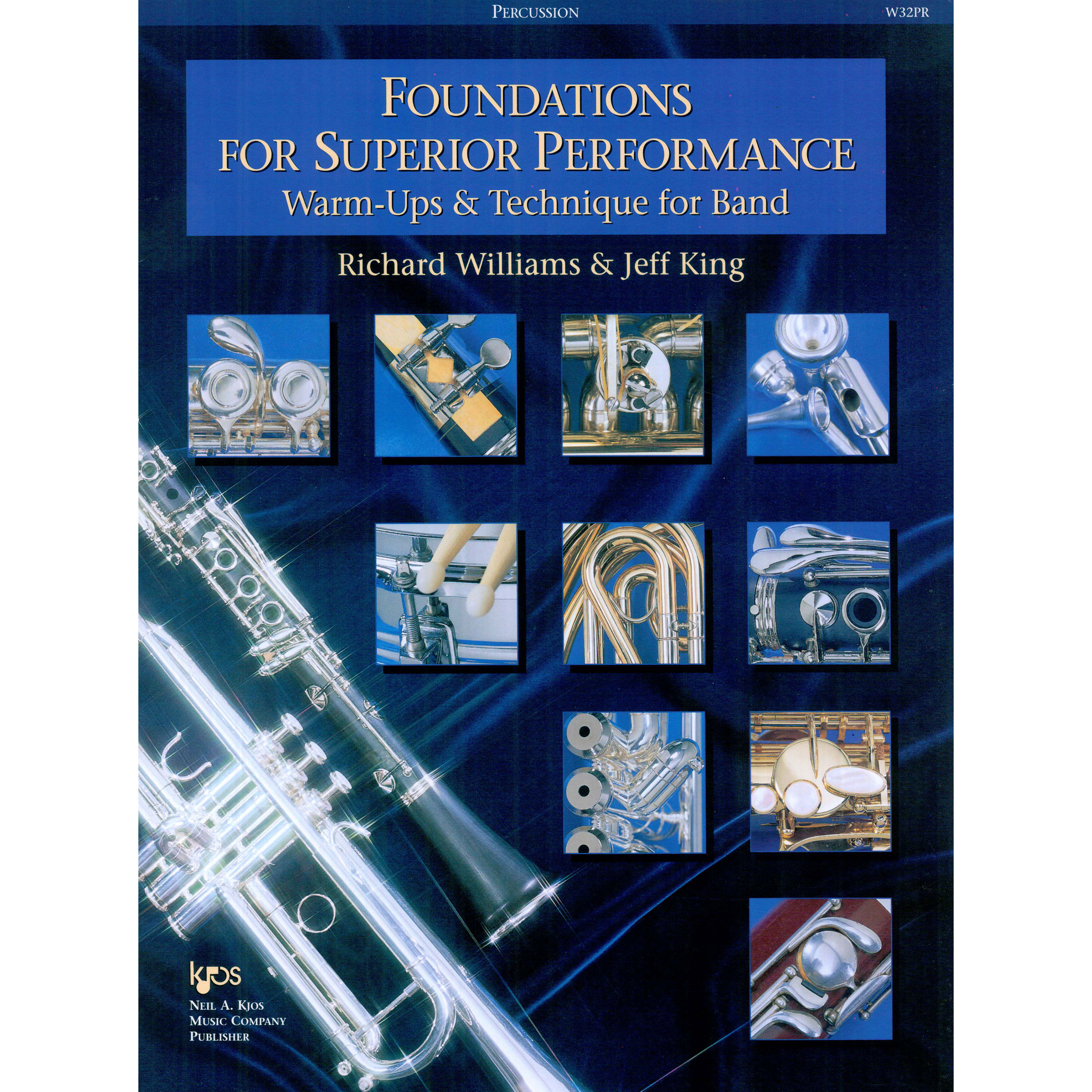 Foundations for Superior Performance - Percussion by Richard Williams & Jeff King