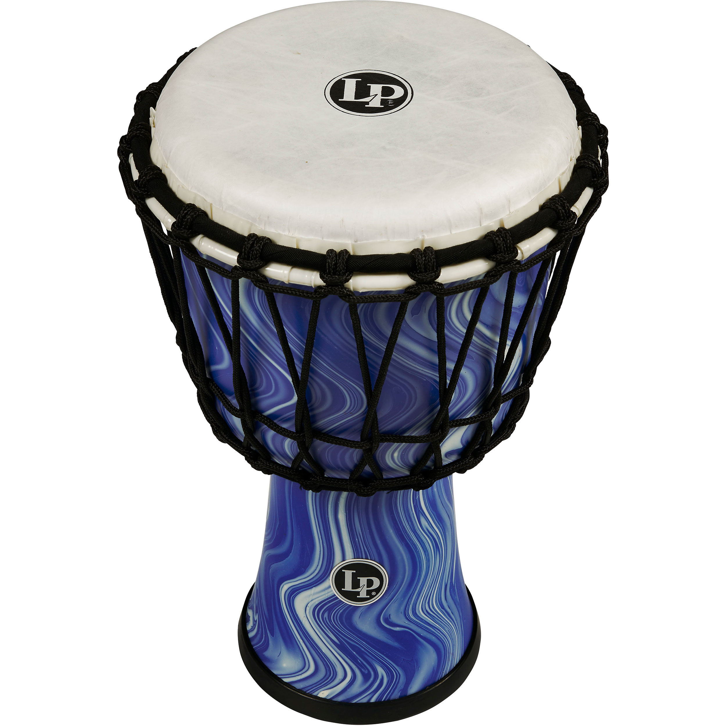 "LP 7"" Rope Tuned Circle Djembe in Blue Marble"