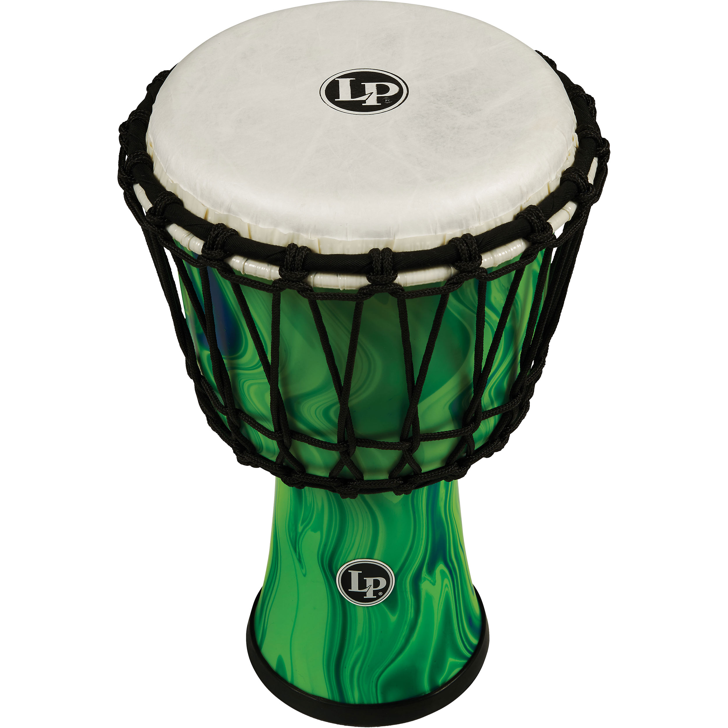 "LP 7"" Rope Tuned Circle Djembe in Green Marble"
