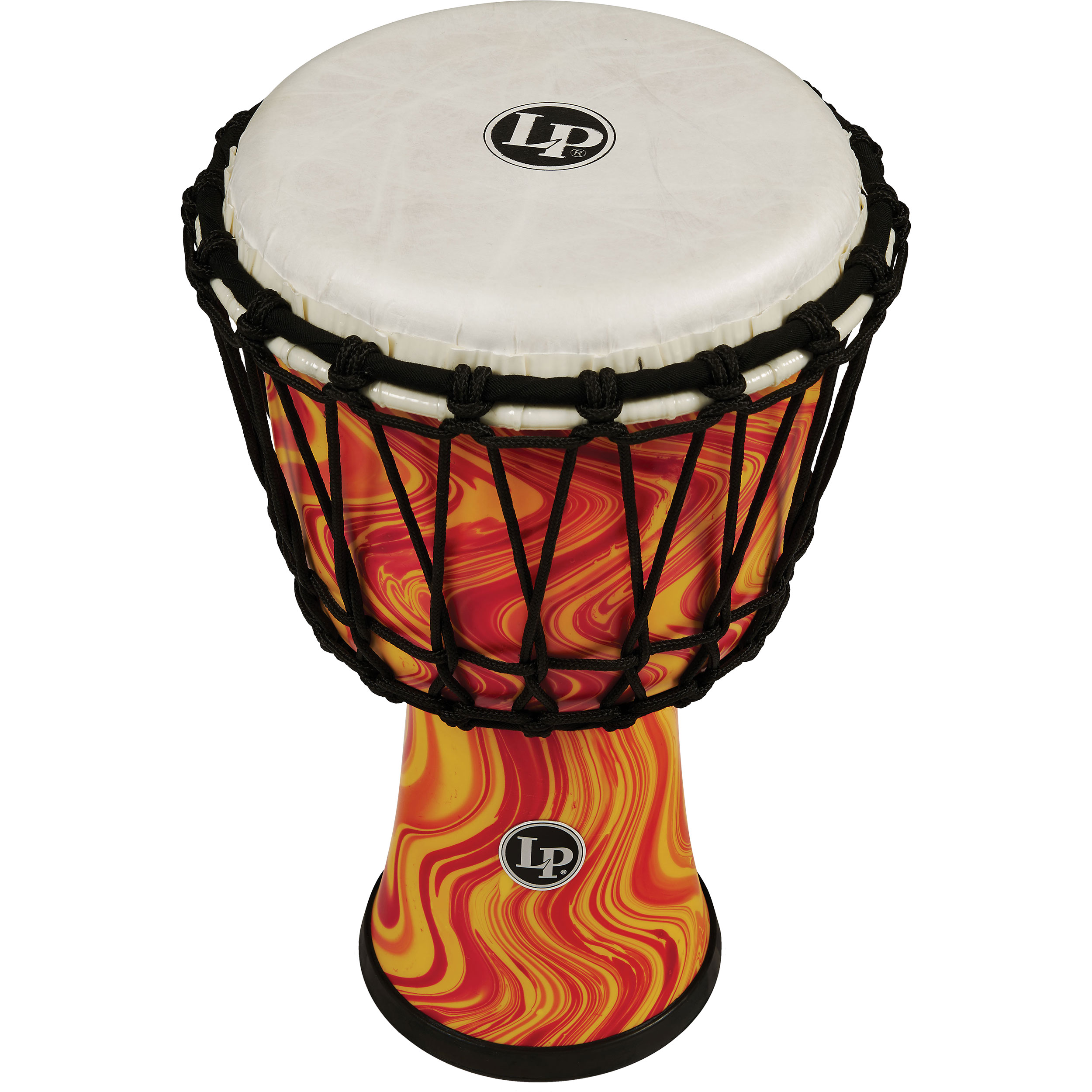"LP 7"" Rope Tuned Circle Djembe in Orange Marble"
