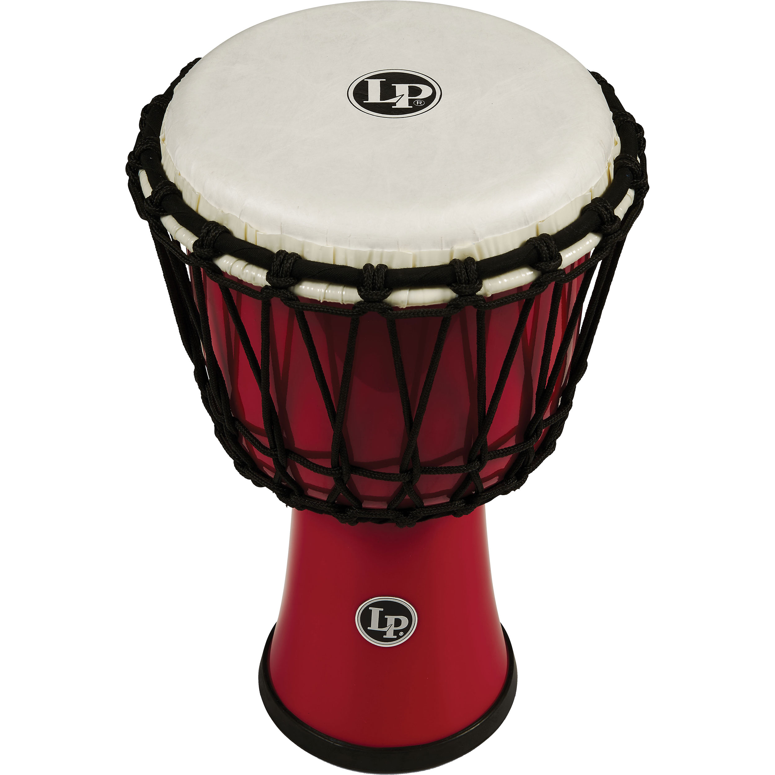"LP 7"" Rope Tuned Circle Djembe in Red"