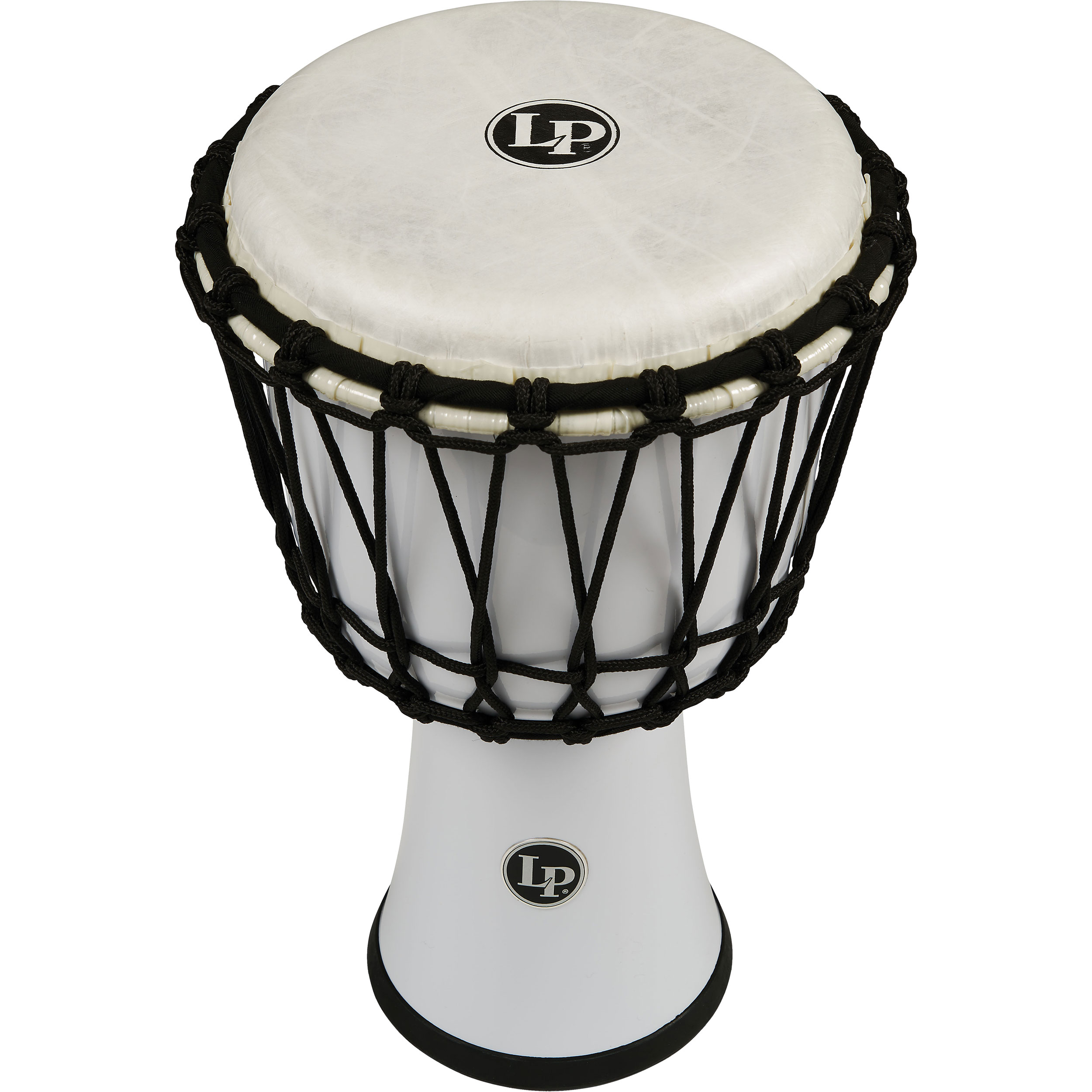 "LP 7"" Rope Tuned Circle Djembe in White"
