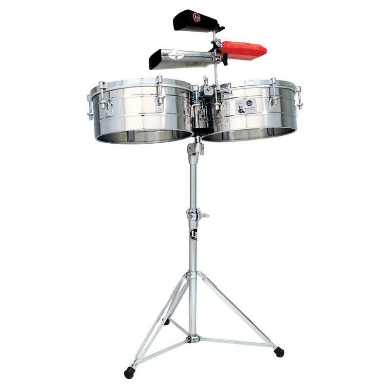 """LP 15/16"""" Tito Puente Stainless Steel Timbales"""