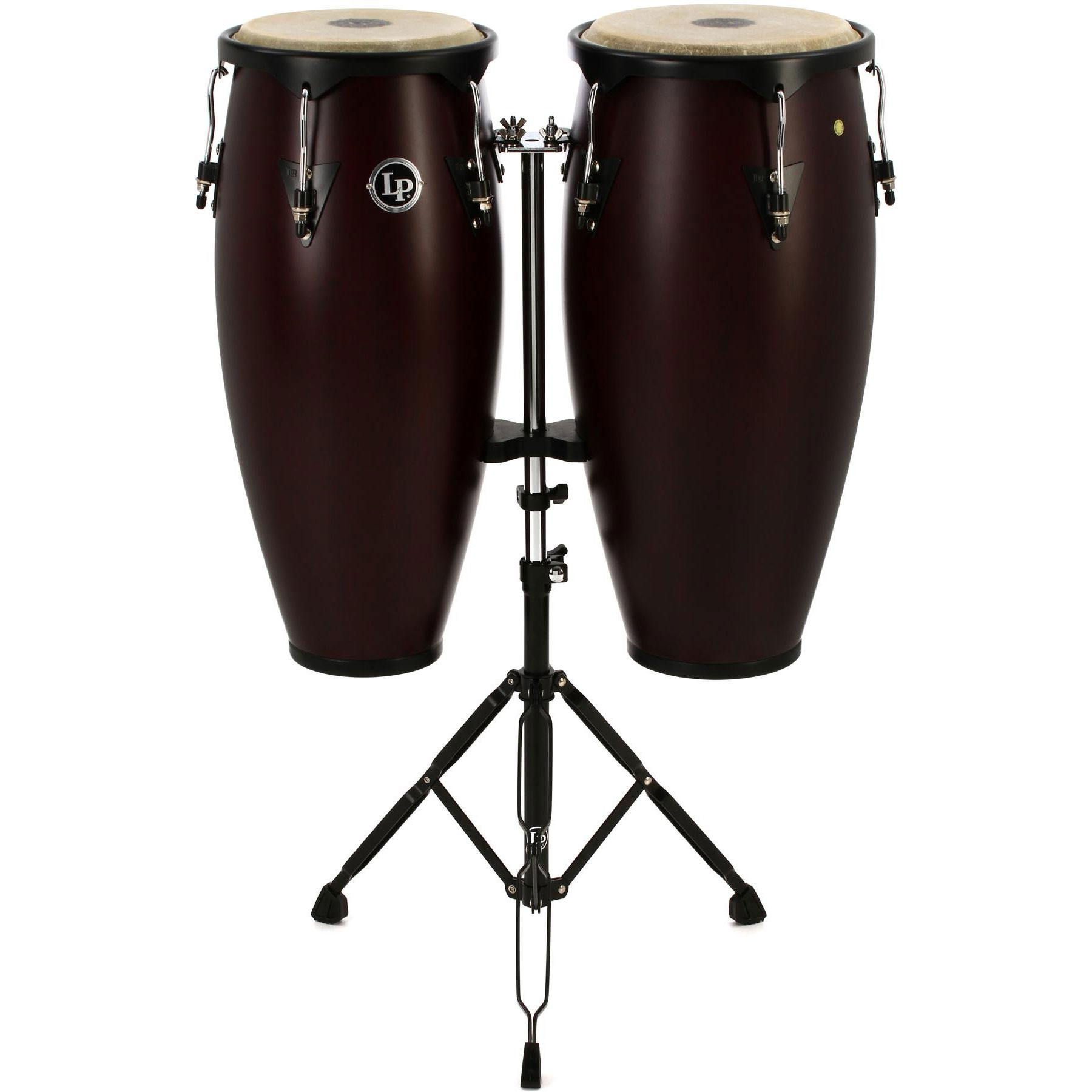 """LP 10"""" & 11"""" City Conga Set in Black with Stand"""