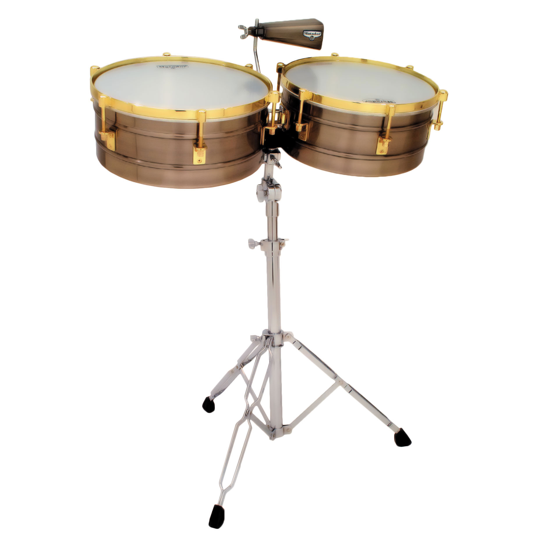 "LP 14/15"" Matador Brushed Nickel & Gold Timbales"